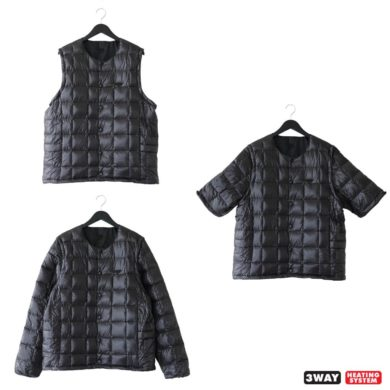 TAION|TAION EXTRA | CREW-NECK 3WAY SET (TYPE 2) #CIRE/BLACK [EX 04-SET]
